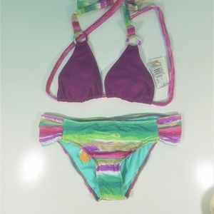 *NEW* Raisins Purple Tie Dye Bikini Set D1192